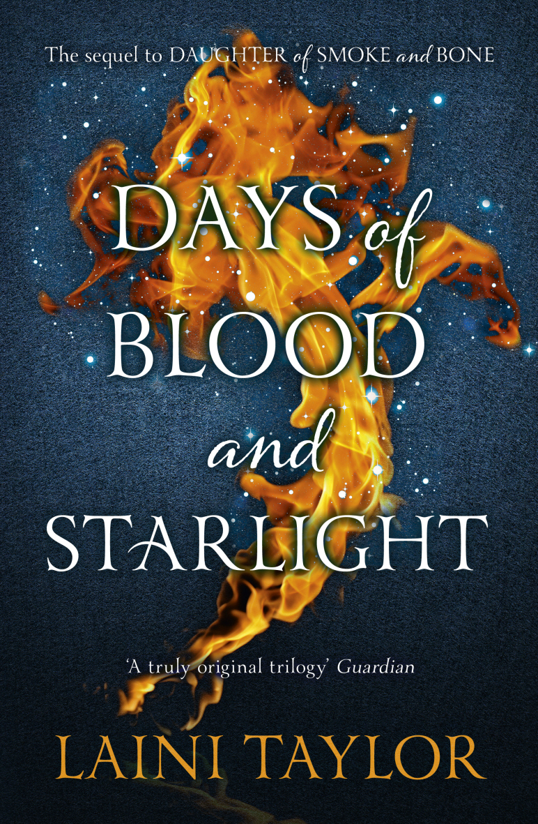 Image result for Days of Blood and Starlight by Laini Taylor.