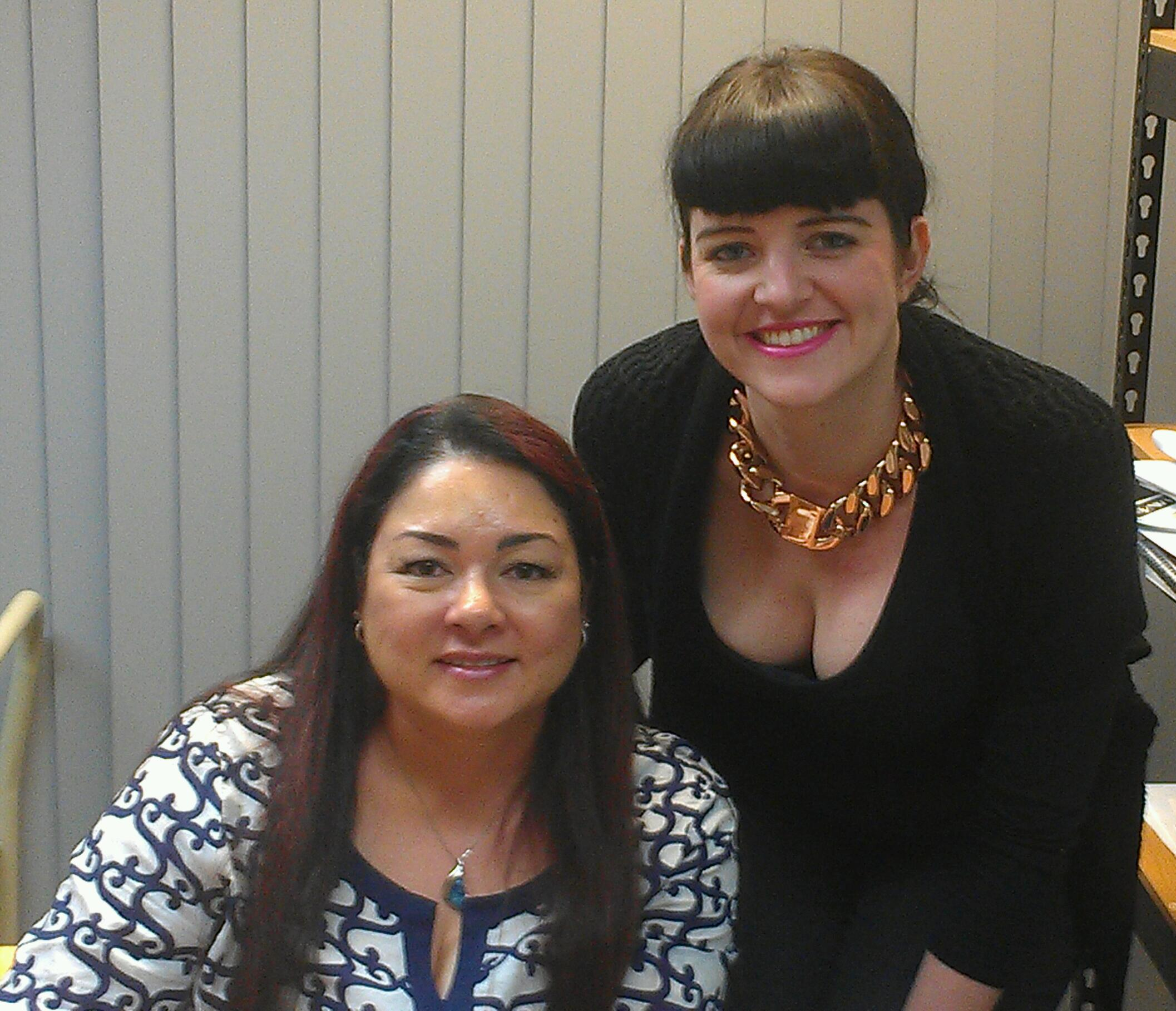 Sylvia Day with Booktopia's Romance specialist, Haylee Nash (no relation)
