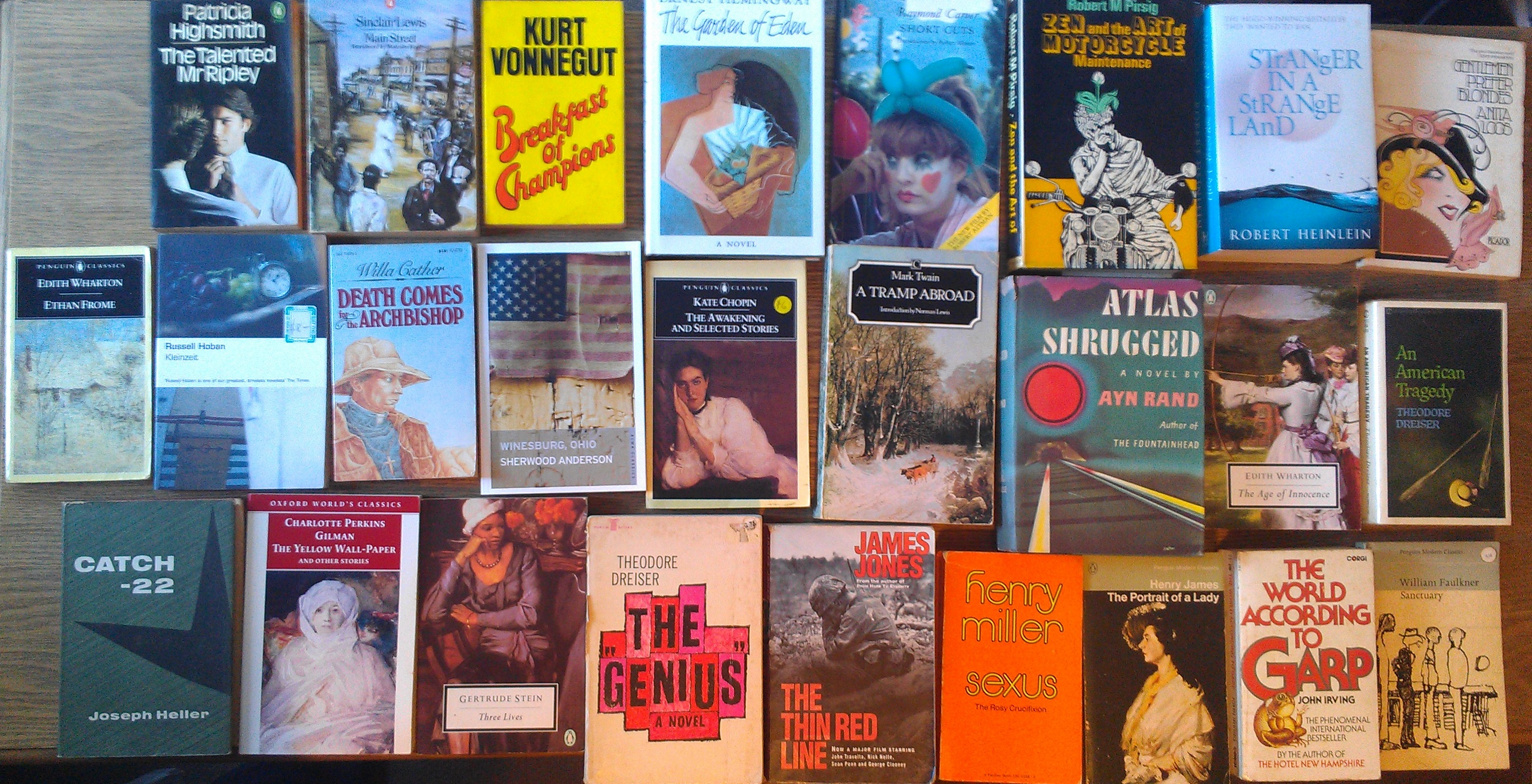 My favourite American novels