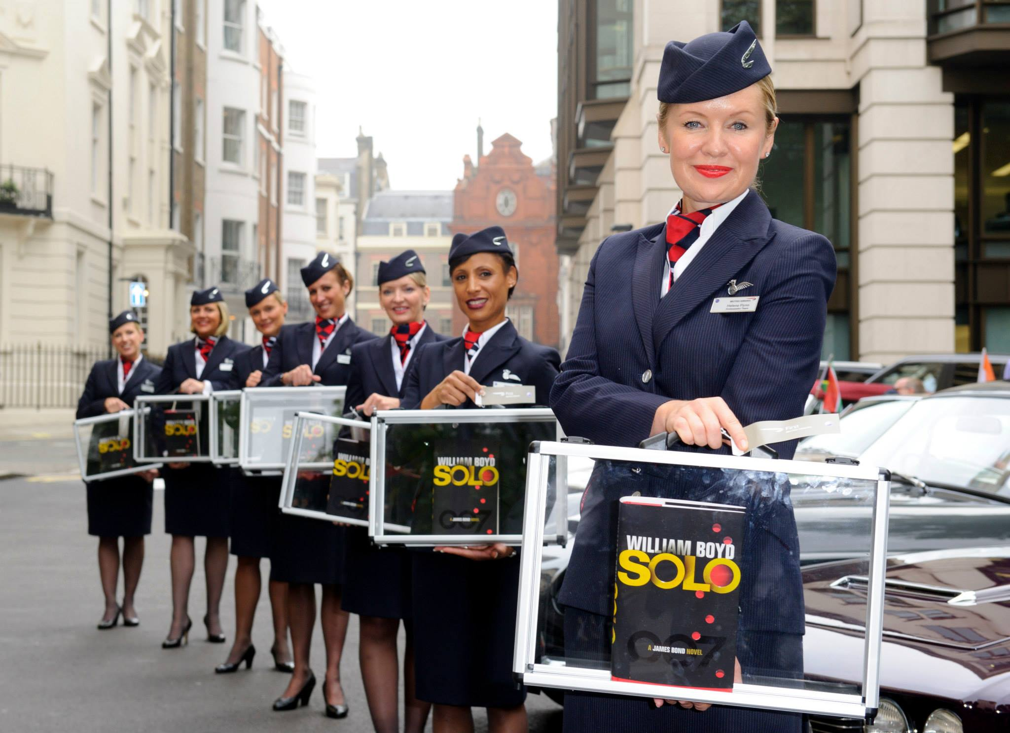 In a global event this morning to mark the publication of the new James Bond novel SOLO, 7 copies of the novel, signed and stamped by author William Boyd, were sent on 7 SOLO missions around the world in association with British Airways.