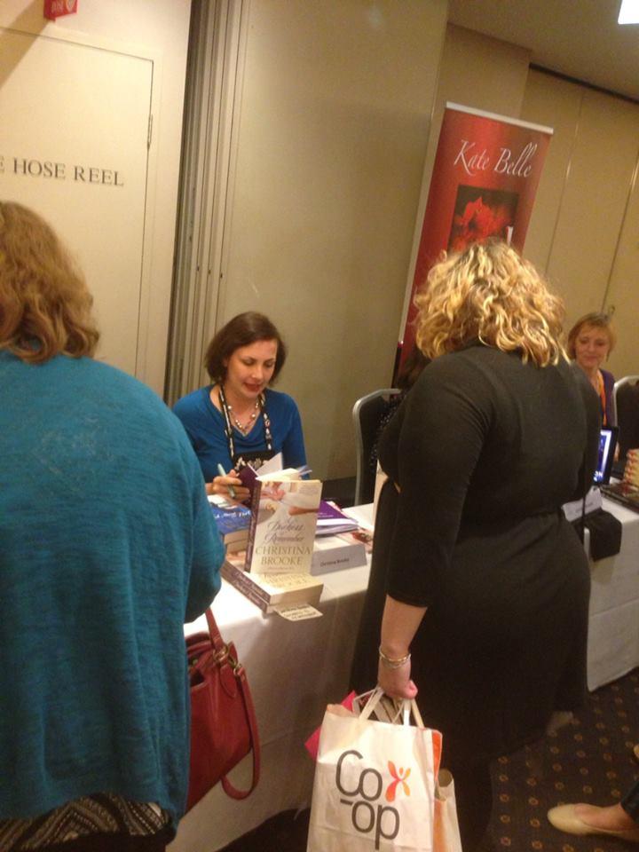 Christina Brooke signing books
