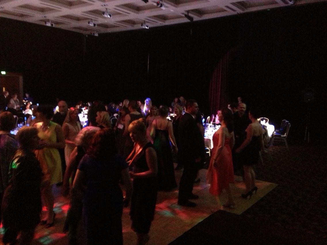 Everyone loved the dance floor...