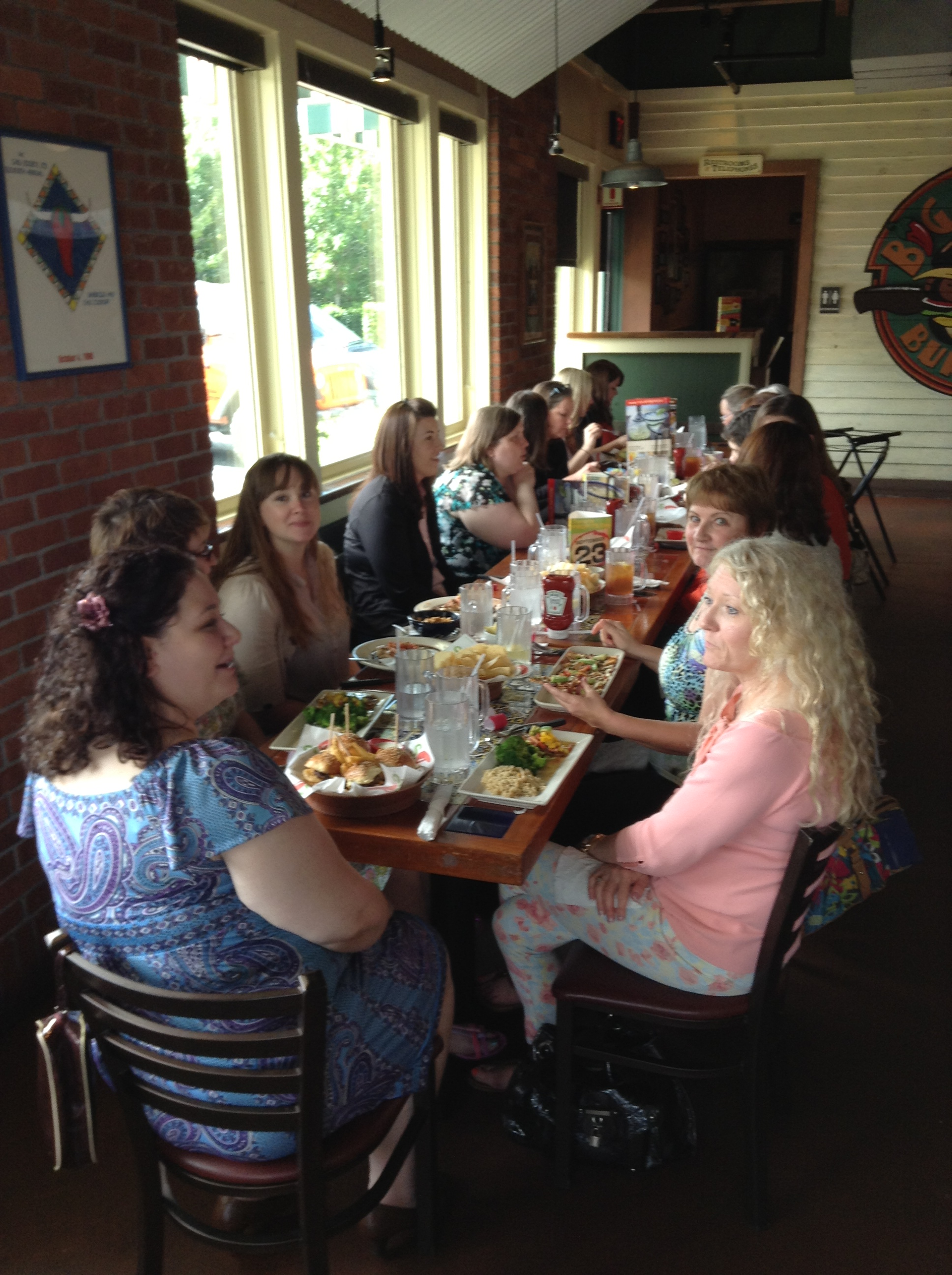 2pm: Lunch with the MCRW at Chili's. P.S. I love Chili's.