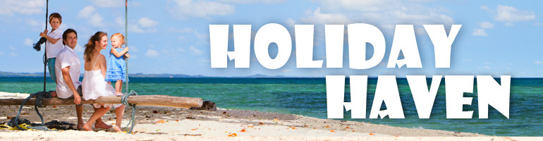 holiday haven rotating home page banner