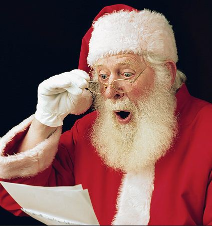 Santa finding out where Alice Springs is