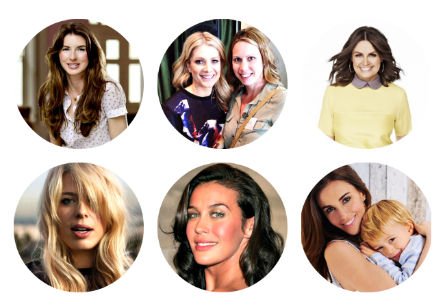 Some of the book's contributors: Jools Oliver, Lisa Wilkinson, Megan Gale, Amanda de Cadenet and Natalie Bassingthwaighte.