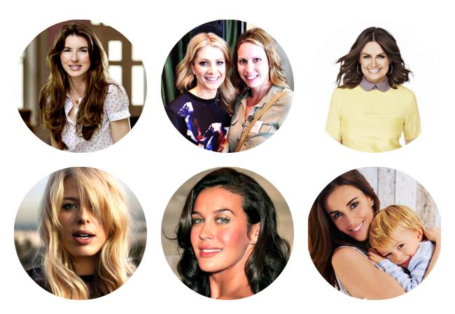 Some of the book's contributors: Jools Oliver, Lisa Wilkinson, Megan Gale, Amanda de Cadenet and Natalie Bassingthwaighte.