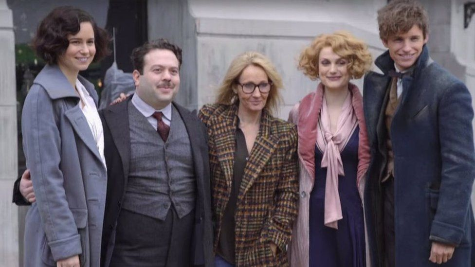 J. K. Rowling dan para bintang Fantastic Beasts and Where to Find Them