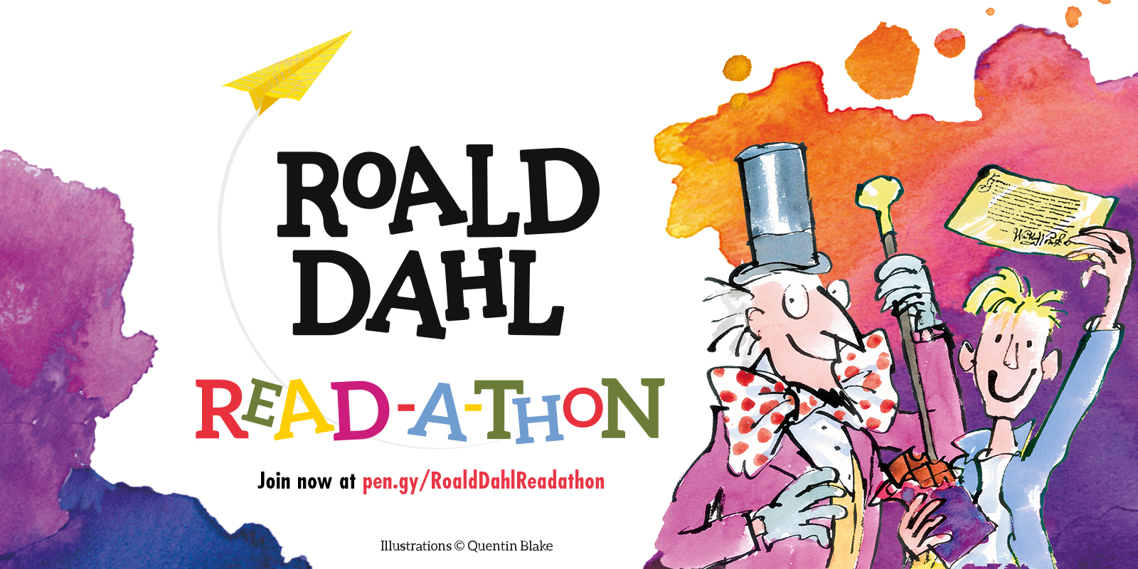 Join the roald dahl read a thon for your chance to win a roalddahlreadathonsocial1600x800charlie fandeluxe Choice Image
