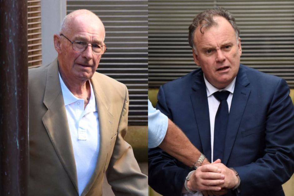 Roger Rogerson (L) and Glen McNamara (R)