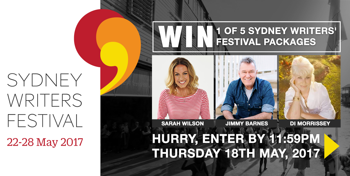Win 1 of 5 tickets to the Sydney Writers' Festival!
