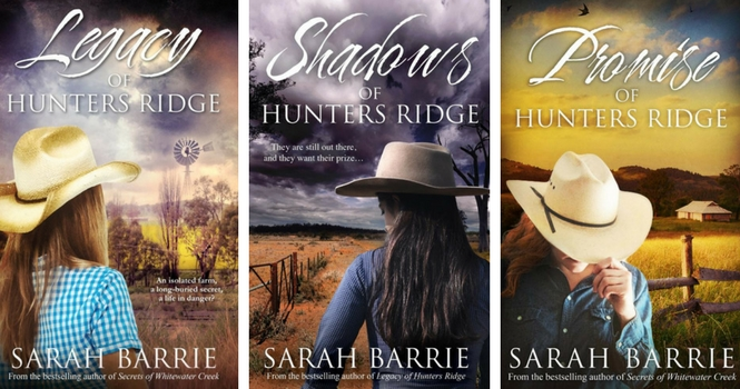 Explore the Hunters Ridge trilogy by Sarah Barrie