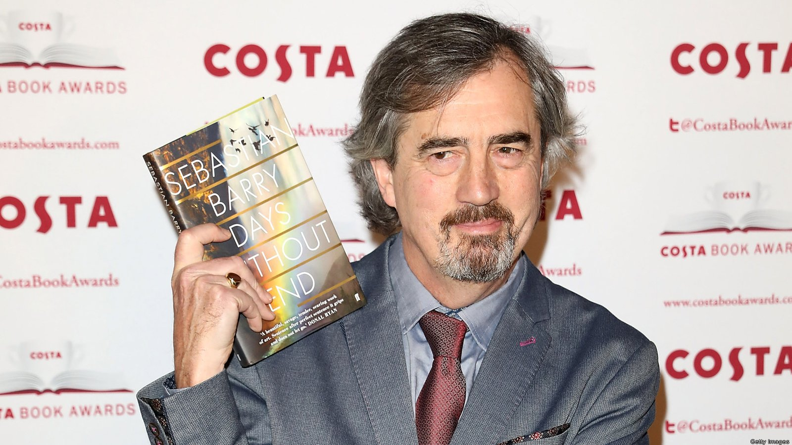 Sebastian Barry won the 2016 Costa Book of the Year for Days Without End