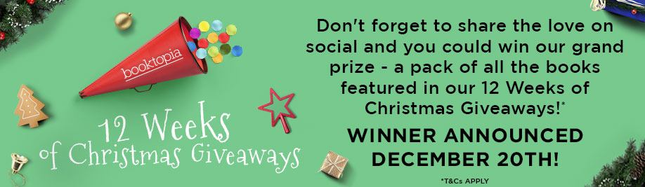 Don't forget to share the love on social media and your could win our grand prize - a pack of all the books featured in our 12 weeks of Christmas Giveaways!