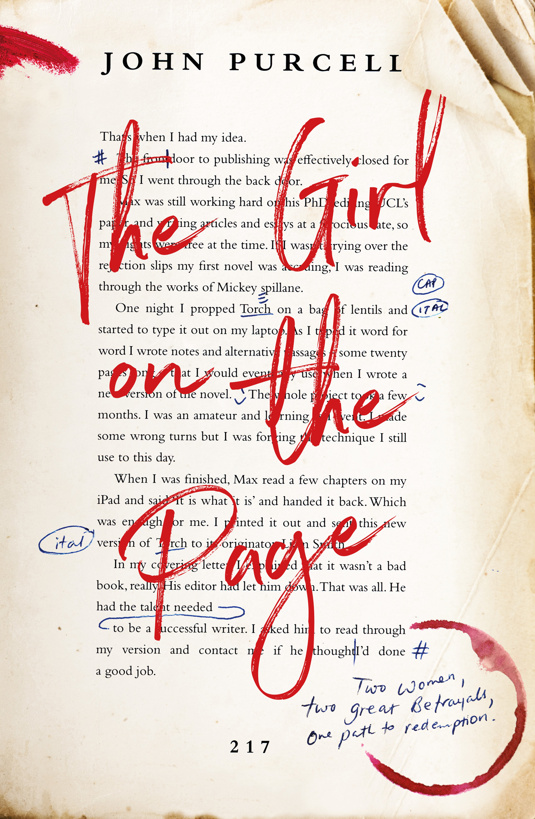 Girl on the Page by John Purcell
