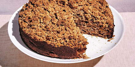 RECIPE: Double apple crumble cake by Claire Saffitz! - The Booktopian
