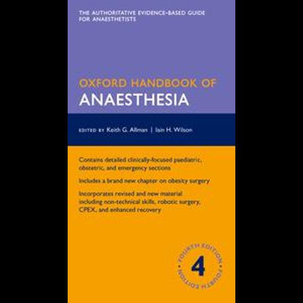 Oxford Handbook of Anaesthesia - Keith Allman (Editor), Iain Wilson (Editor), Aidan O'Donnell (Editor)   Karta-nauczyciela.org