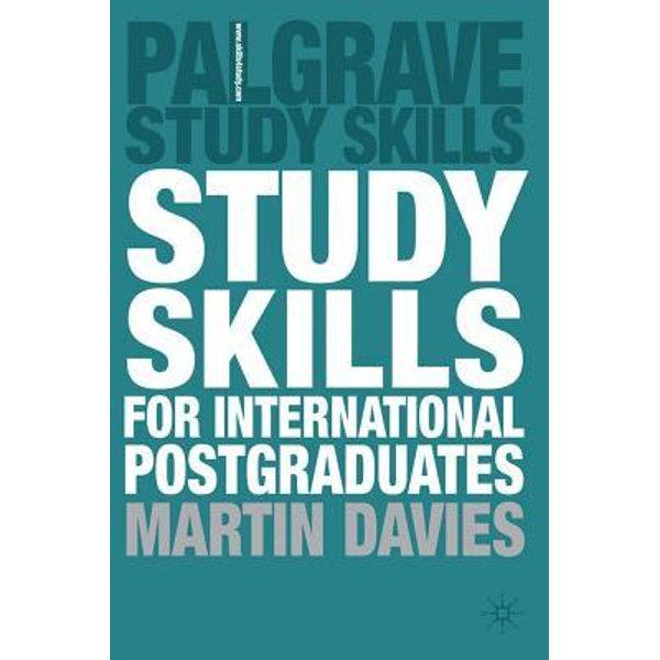 Study Skills for International Postgraduates - Martin Davies | 2020-eala-conference.org