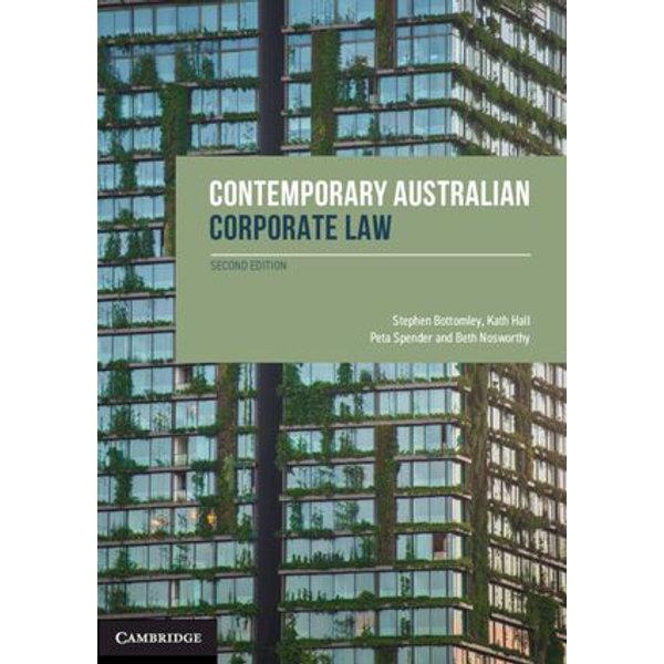 Contemporary Australian Corporate Law - Stephen Bottomley, Kath Hall, Peta Spender, Beth Nosworhty | Karta-nauczyciela.org