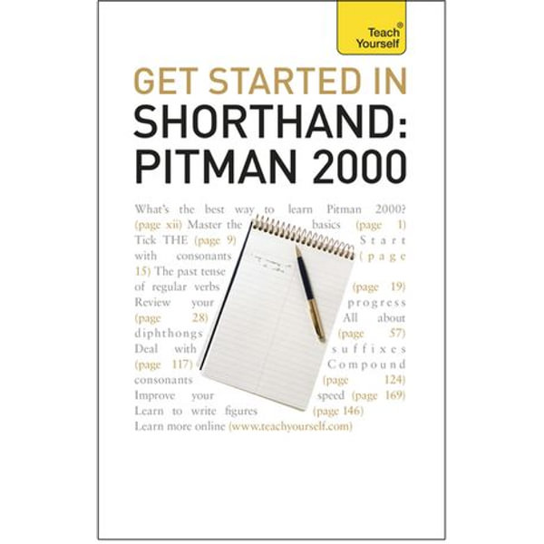 Get Started In Shorthand: Pitman 2000 - Pitman Publishing   2020-eala-conference.org