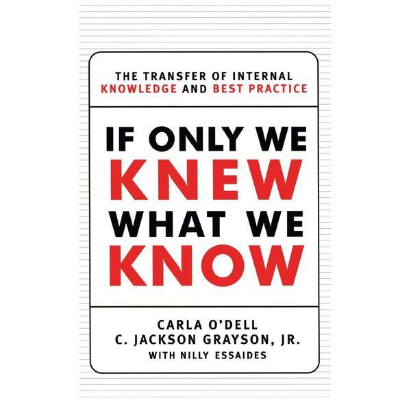 If Only We Knew What We Know - C. Jackson Grayson, Carla O'dell   Karta-nauczyciela.org