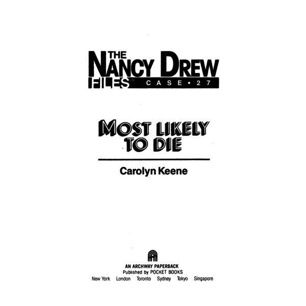 Most Likely to Die - Carolyn Keene | Karta-nauczyciela.org